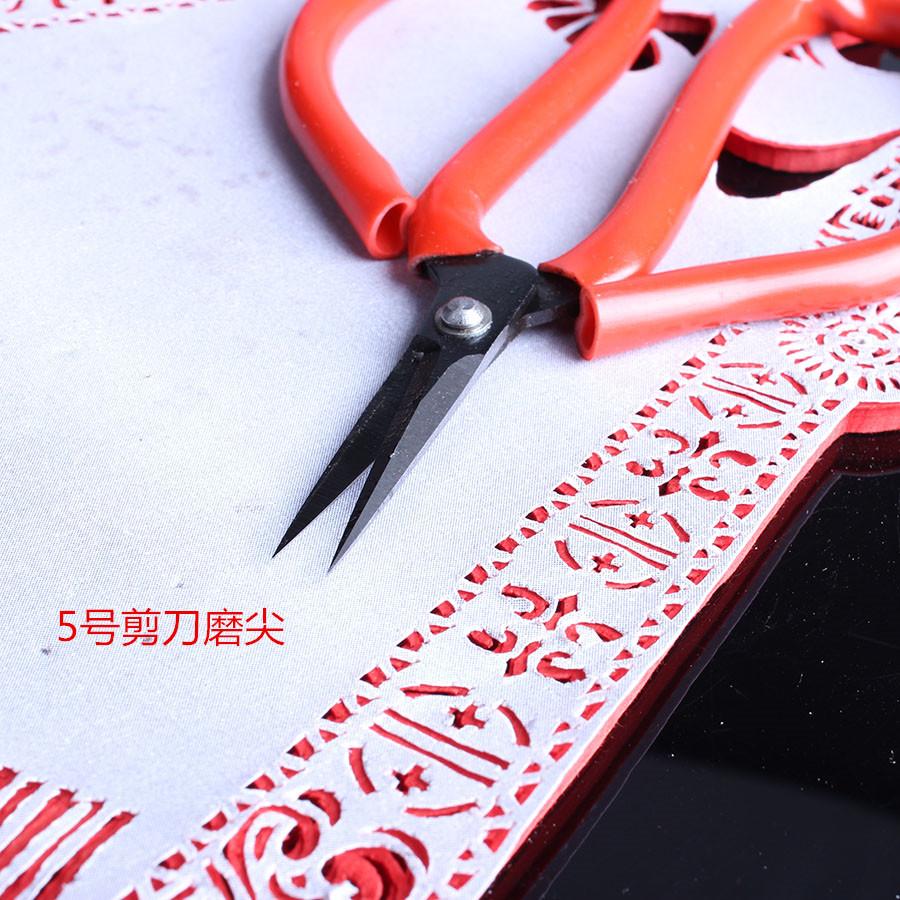 中国剪纸工具剪刀剪纸专用剪刀儿童成人用尖头质优价廉促销