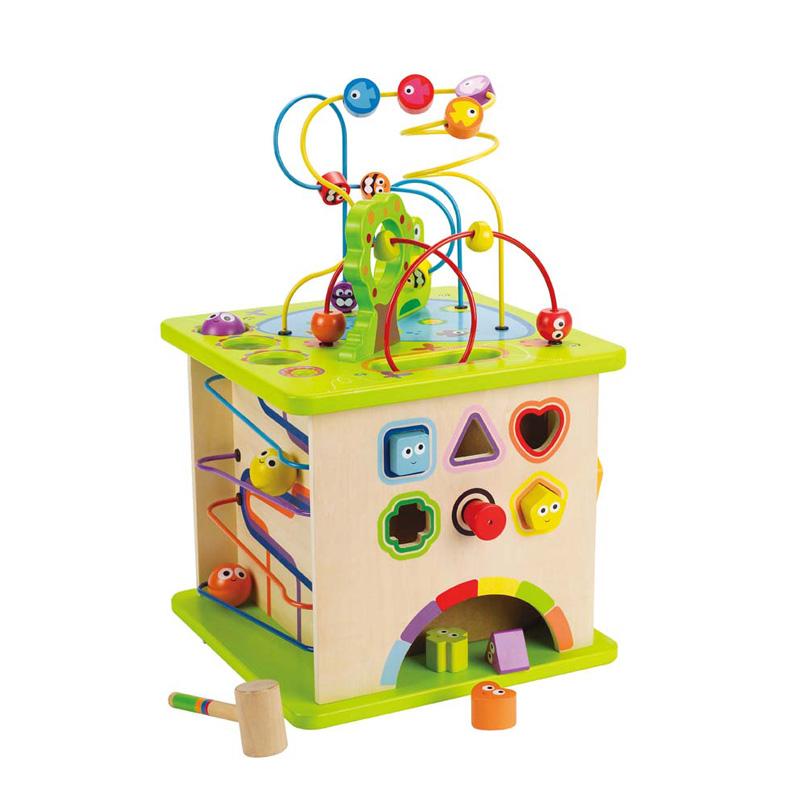 Hape开心农场大号绕珠 儿童婴儿串珠百宝箱宝宝1-2-3周岁益智玩具