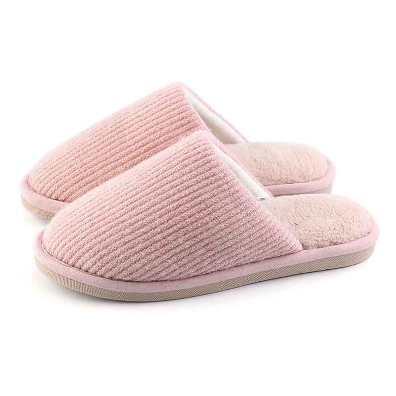 朴西 棉拖鞋女家居 室内保暖棉鞋居家用情侣防滑木地板拖鞋男