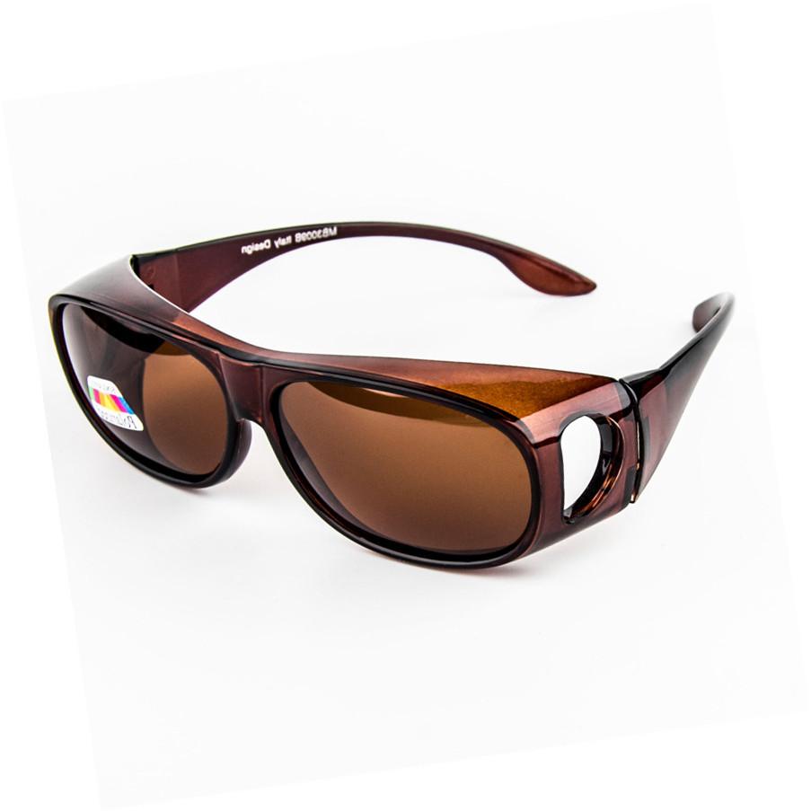 日用夜用近视偏光太阳镜套镜 防风沙眼镜墨镜摩托车自行车挡风镜