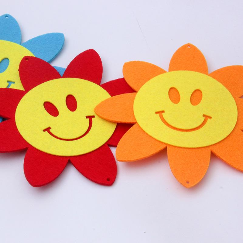 六一儿童节装饰品藤条太阳花店铺橱窗吊饰幼儿园教室走廊布置挂件