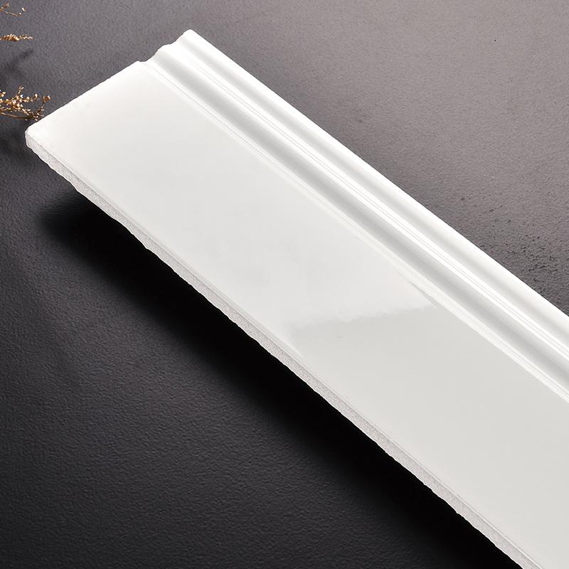 白色踢脚线瓷砖地脚线客厅陶瓷贴脚线大理石波导线美式门槛石北欧