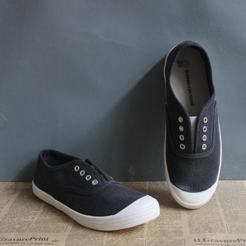 新款休闲时尚女鞋帆布鞋亚麻水洗布大方韩版一脚蹬瑕疵鞋