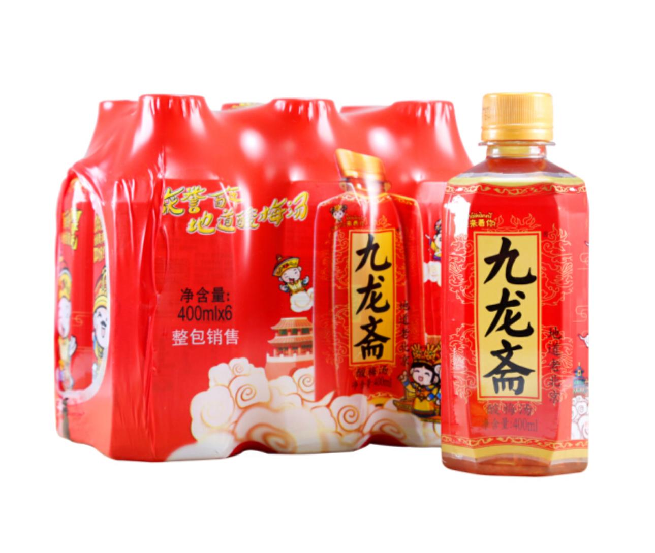 九龙斋老北京风味酸梅汤饮料 400ml*6瓶解暑饮料冰糖熬制【图2】