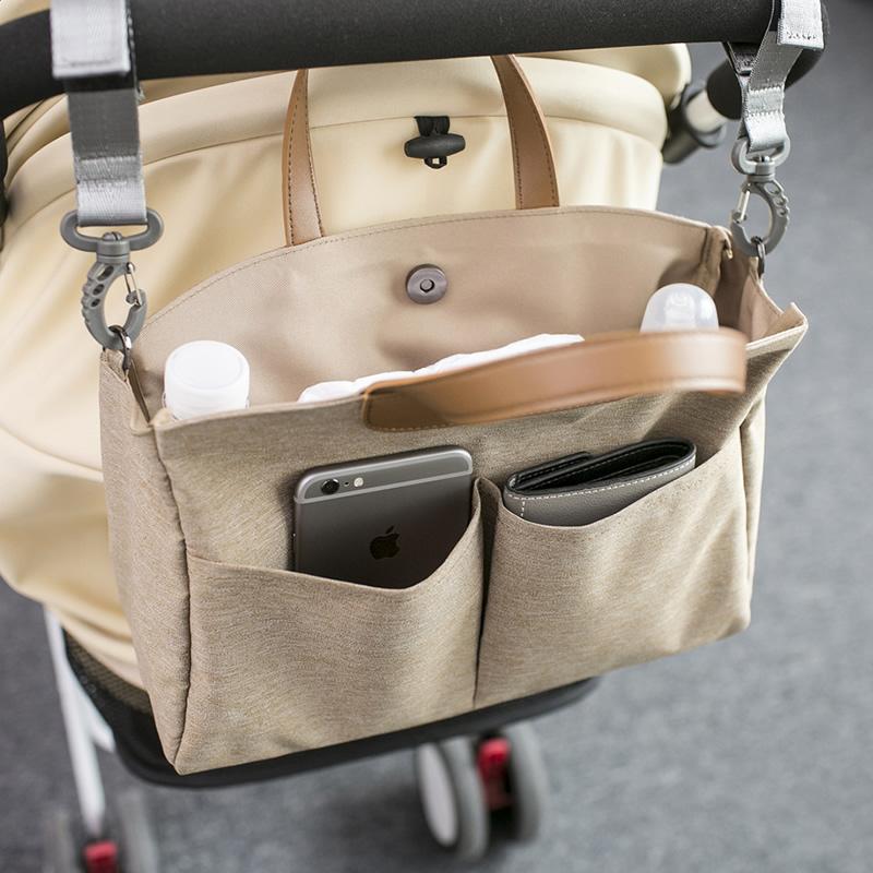 手提妈咪包多功能大容量奶瓶母婴包推车外出挂包单肩女斜