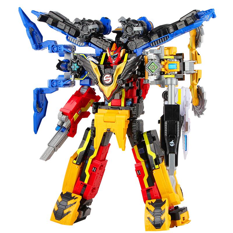 巨神战击队3超救分队男孩变形玩具机器人金刚旋天爆裂冲锋战击王