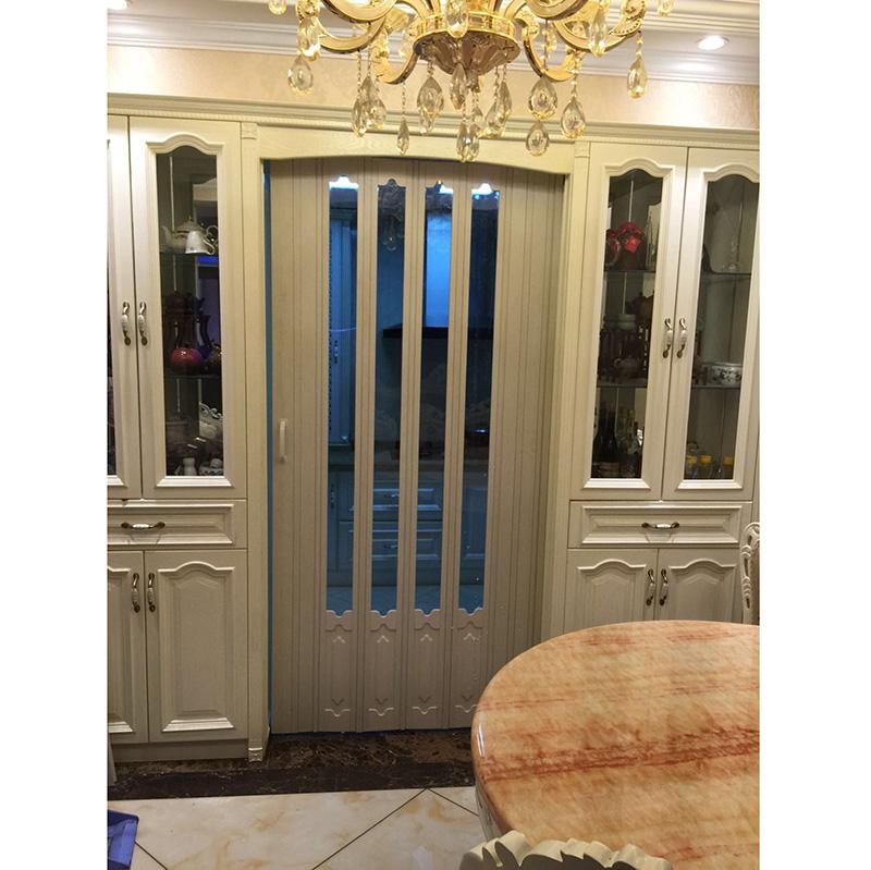 莱可 出口PVC折叠门隔断阳台厨房卫生间塑膠摺門玻璃开放式推拉门