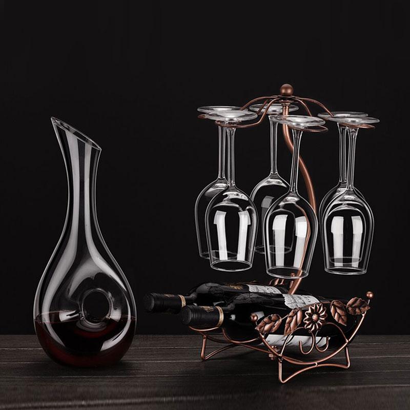 创意无铅玻璃红酒杯套装高脚杯子大号分酒水晶醒酒器酒具家用酒杯