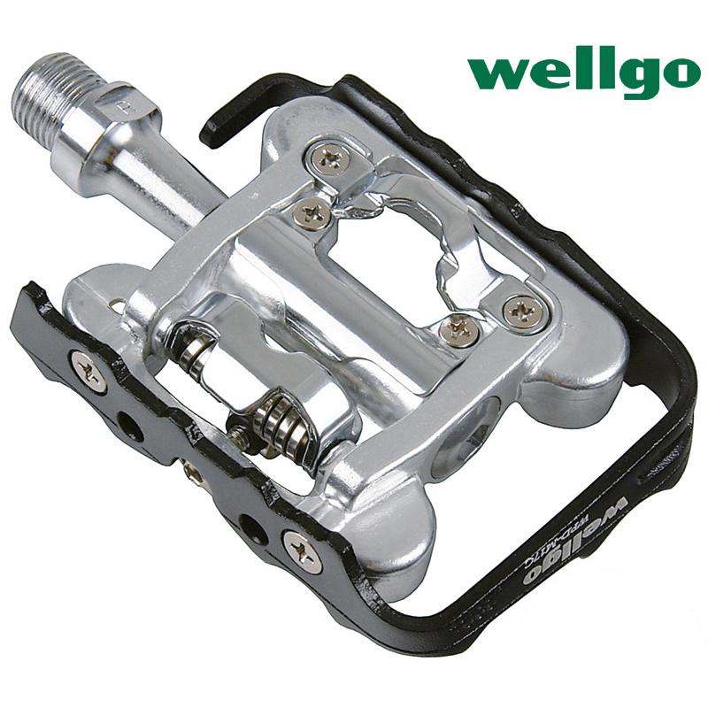 臺灣wellgo維格WPD-M17C山地公路車鎖踏軸承雙面兩用 自行車腳踏
