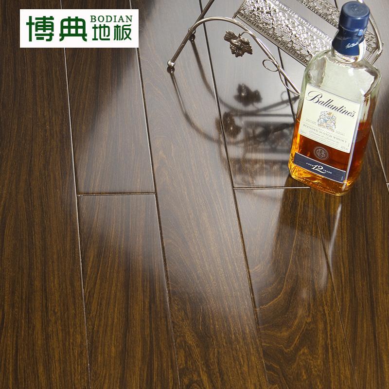 博典地板番龙眼实木地板18mm紫檀木纹理实木厂家直销木地板