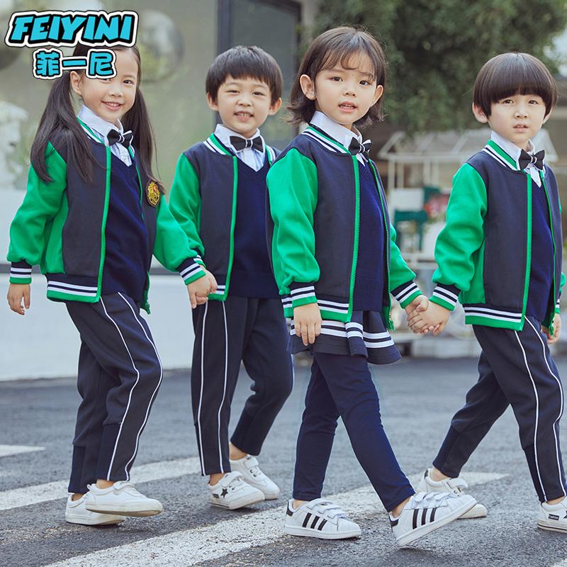 幼儿园园服春秋套装英伦风小学生校服班服老师亲子儿童运动三件套