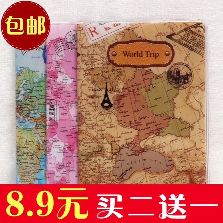 韓國可愛護照夾身份證套出國旅行用品證件保護套創意簡約護照套