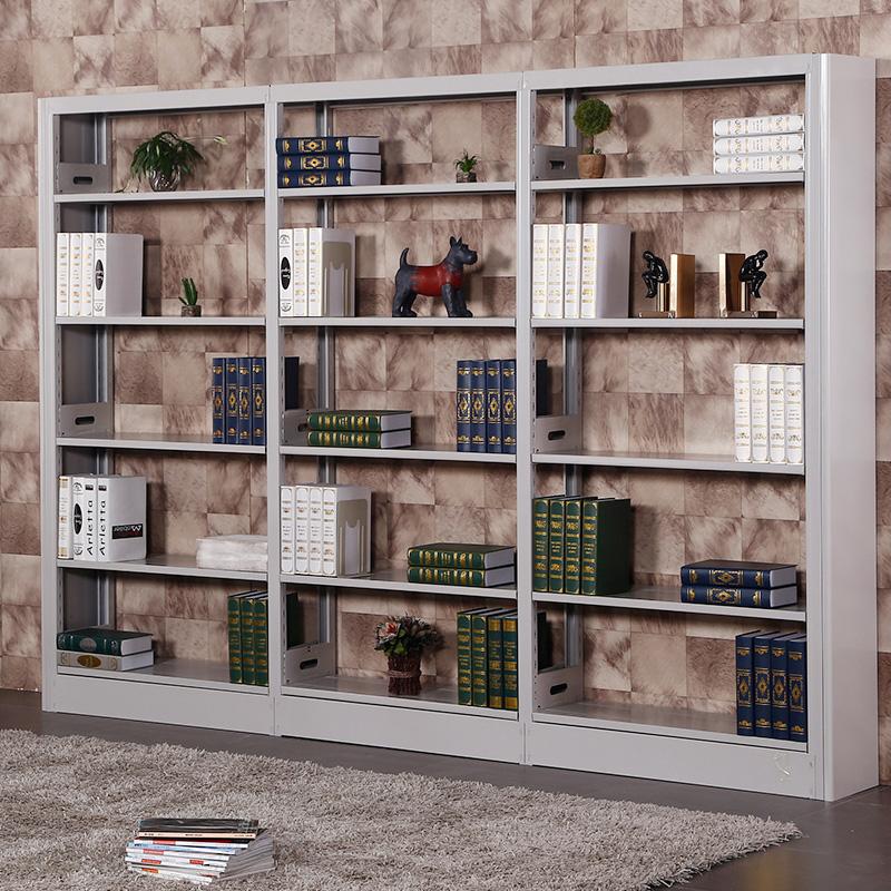 欧佛娜书架货架钢制单双面书架学校图书馆阅览室书架期刊室展示架