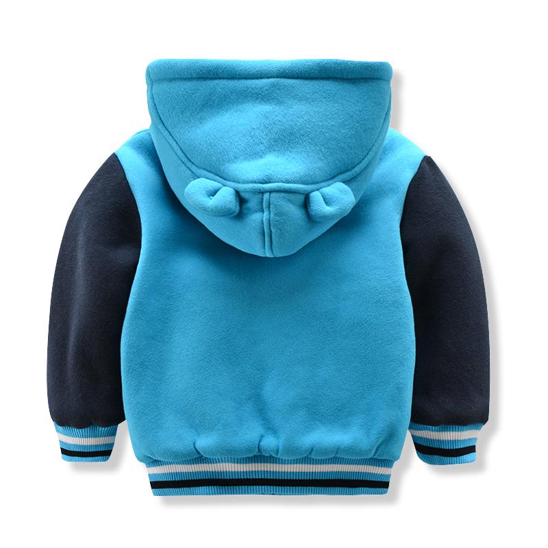 夹棉童装加厚棉服上衣秋冬装新款小熊男童棉袄宝宝儿童棉衣外套潮