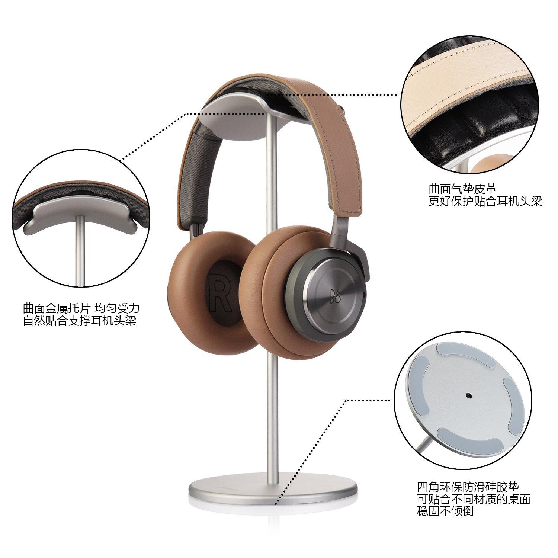 耳机架托架创意头戴式金属电脑耳机支架实木耳麦收纳架子放置挂架