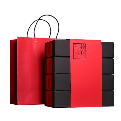 朴存醇香大红袍武夷岩茶乌龙茶武夷山茶叶礼盒装四盒送礼散装400g