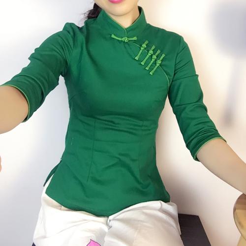 秋日常中国风女装改良复古盘扣旗袍上衣修身显瘦中式唐装茶艺汉服