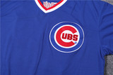 Cubs jersey short-sleeved t-shirt baseball uniform cardigan loose long section of hip-hop hiphop men and women tide
