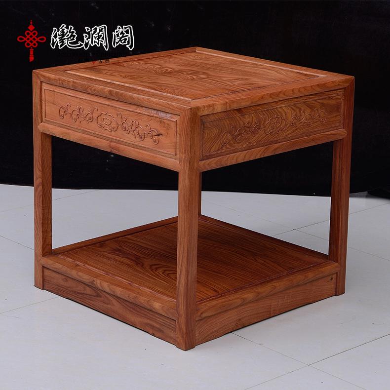 滟澜阁红木 非洲花梨木现代软体沙发 中式红木沙发现代实木沙发