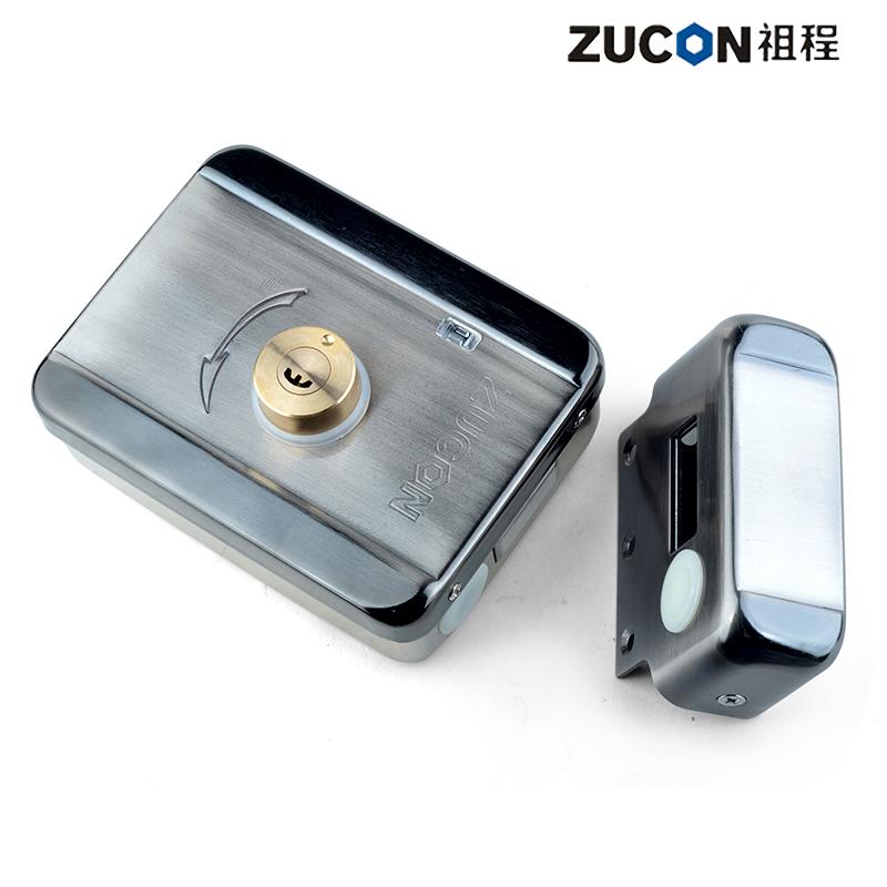 ZUCON祖程不锈钢灵性电机控锁静音锁单双头门锁单元门锁小区门禁