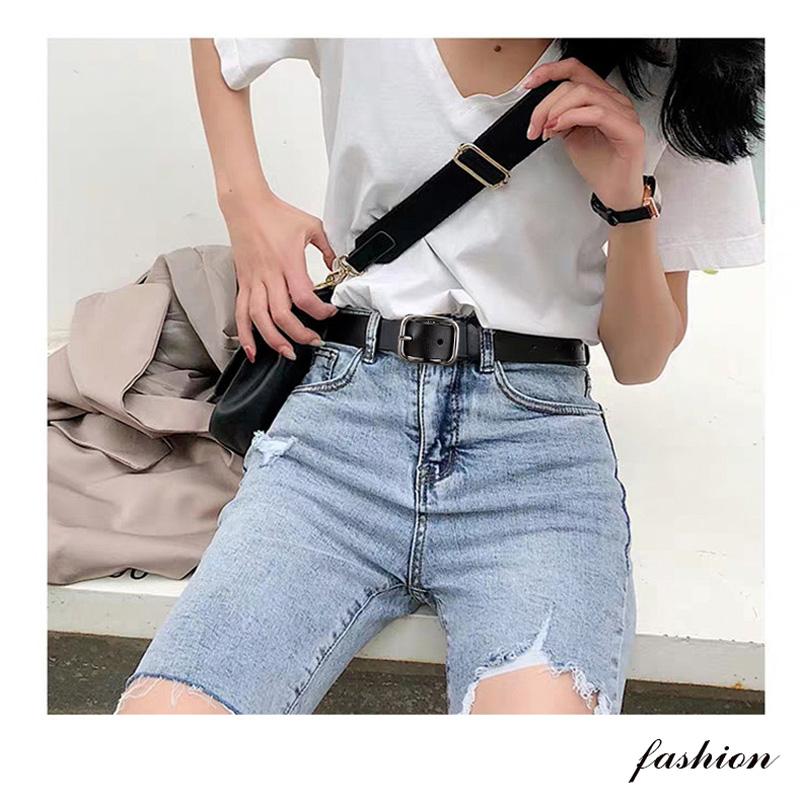 皮带女牛仔裤ins风简约百搭黑色真皮腰带女装饰时尚韩国学生裤带