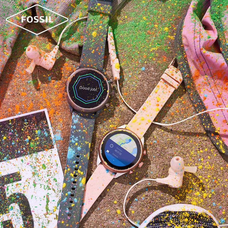 秋冬明星杨紫同款硅胶表带运动触屏智能腕表男女适用 Fossil2019