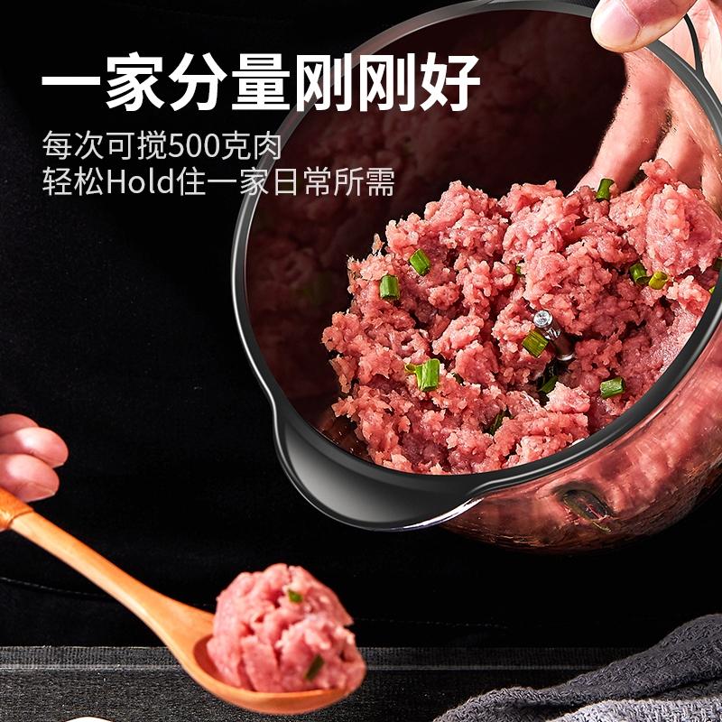 汉佳欧斯绞肉机家用电动不锈钢搅拌碎馅菜打蒜蓉小型多功能料理机