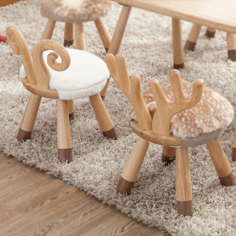 儿童创意小凳子实木简约动物矮凳创意凳北欧儿童凳板凳宝宝椅家用