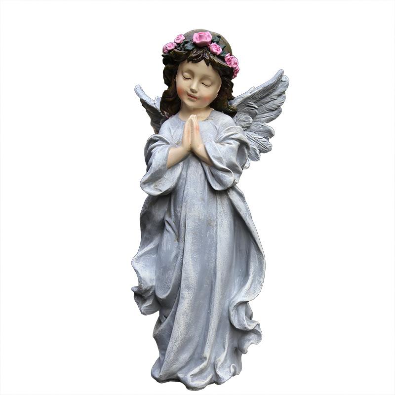 园艺摆件树脂小天使摆件 小院子装饰 美式乡村 户外花园 庭院装饰