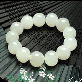 Natural authentic Xinjiang Hetian white jade bracelets Kunlun jade bracelet with a certificate