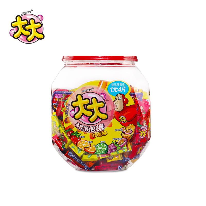 箭牌大大泡泡糖什锦味桶装约150片什锦味儿童口香糖果儿童零食
