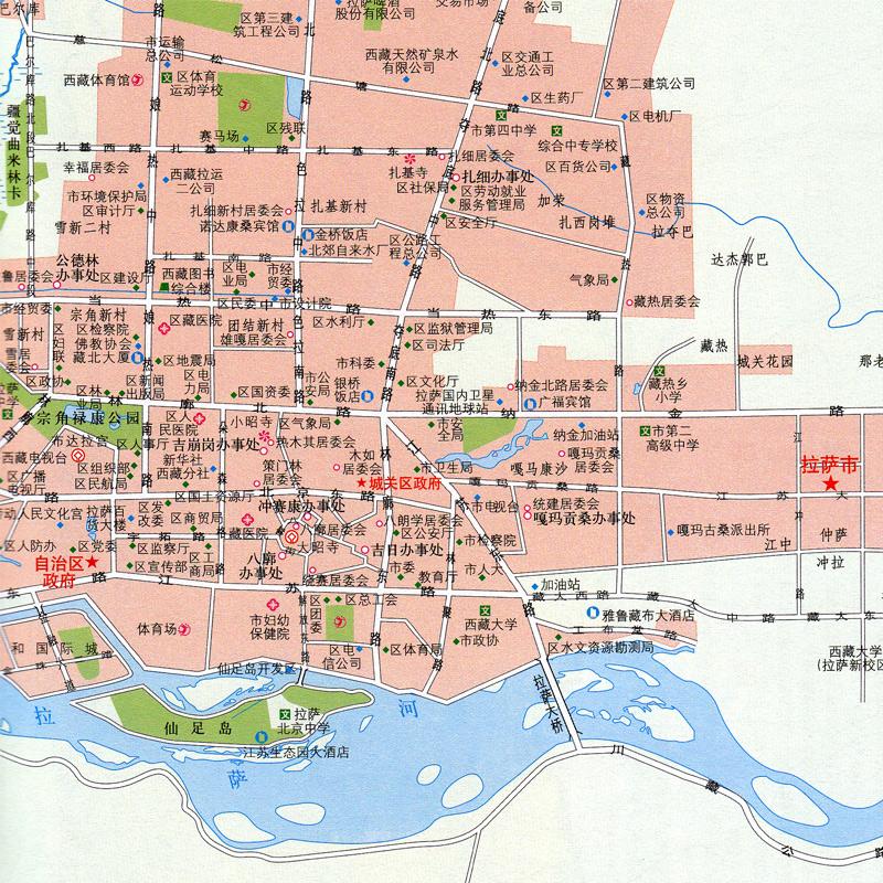 文字概述地理读本 昌都全彩地图册 日喀则 拉萨 全新版中国分省系列西藏政区地形交通旅游地理信息一览 2018 西藏地图册