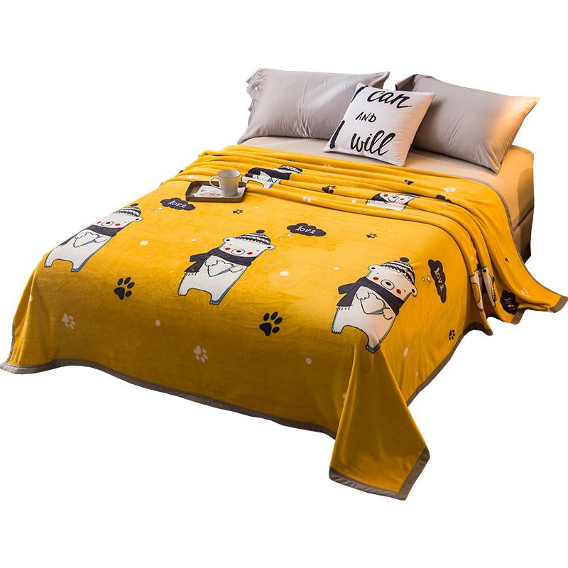 盖毯珊瑚法莱法兰绒垫床单人毛毯子被子夏季夏天空调薄款