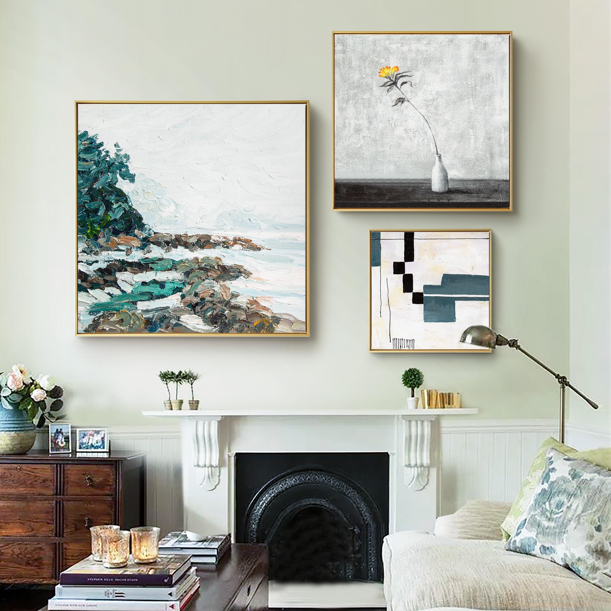 DUDUO都多|歐式純手繪油畫 客廳美式輕奢組合裝飾畫抽象風景掛畫