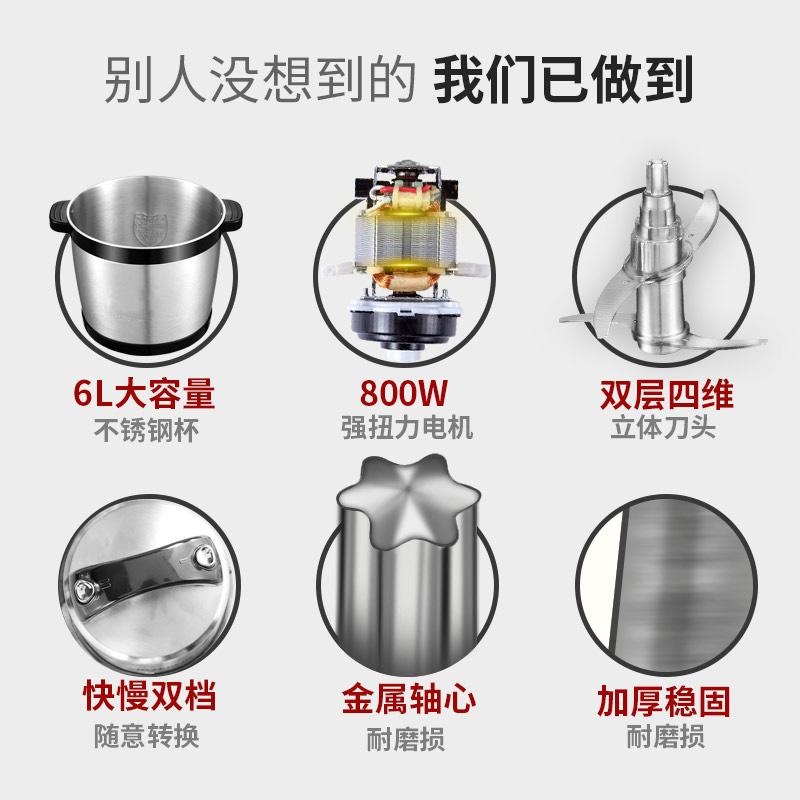 德国汉佳欧斯6L绞肉机商用家用电动搅肉机碎肉机肉泥机不锈钢绞馅