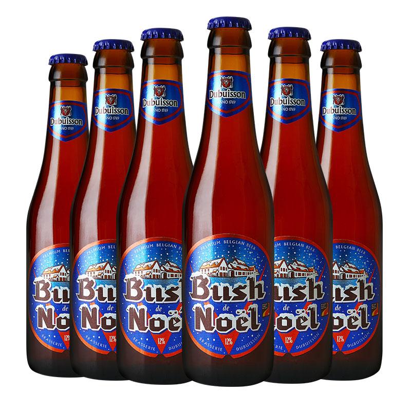 瓶 6 330ml 布什圣诞啤酒 Bush 比利时精酿啤酒 比利时进口啤酒