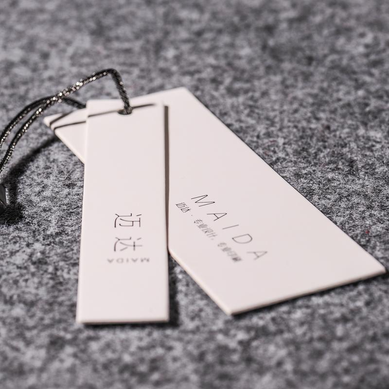 服装吊牌定做女装异形厚纸卡商标合格证印刷衣服挂牌标签吊卡log设计童装吊牌内衣标牌袜卡挂卡定制
