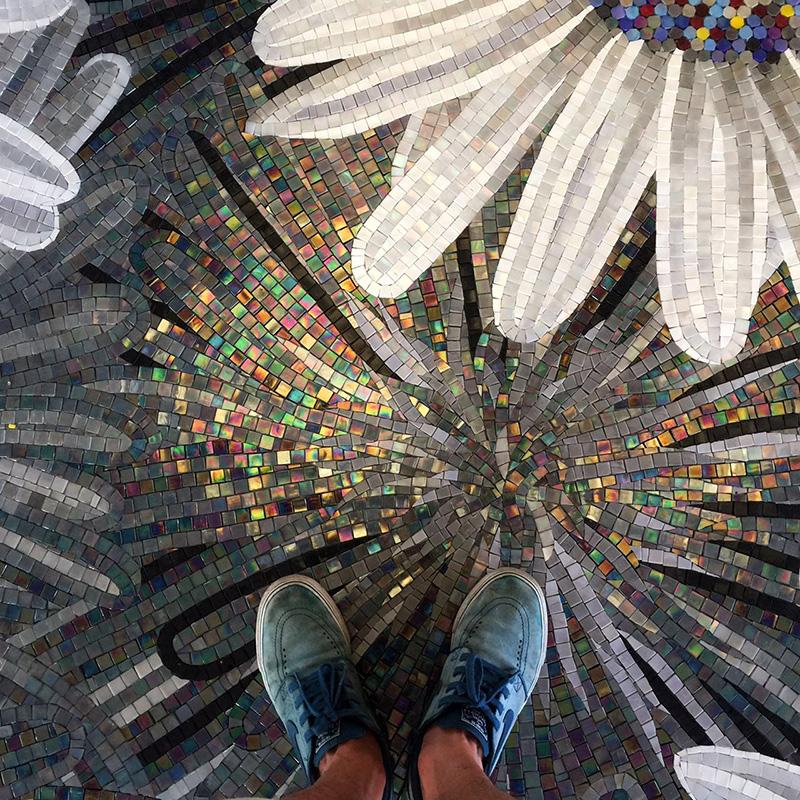 马赛克背景墙简约现代客厅电视玄关玻璃装饰剪画拼图艺术拼花瓷砖
