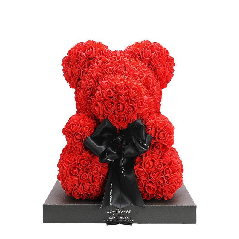 JoyFlower永生花玫瑰小熊,情人节礼物生日送女生朋友礼盒