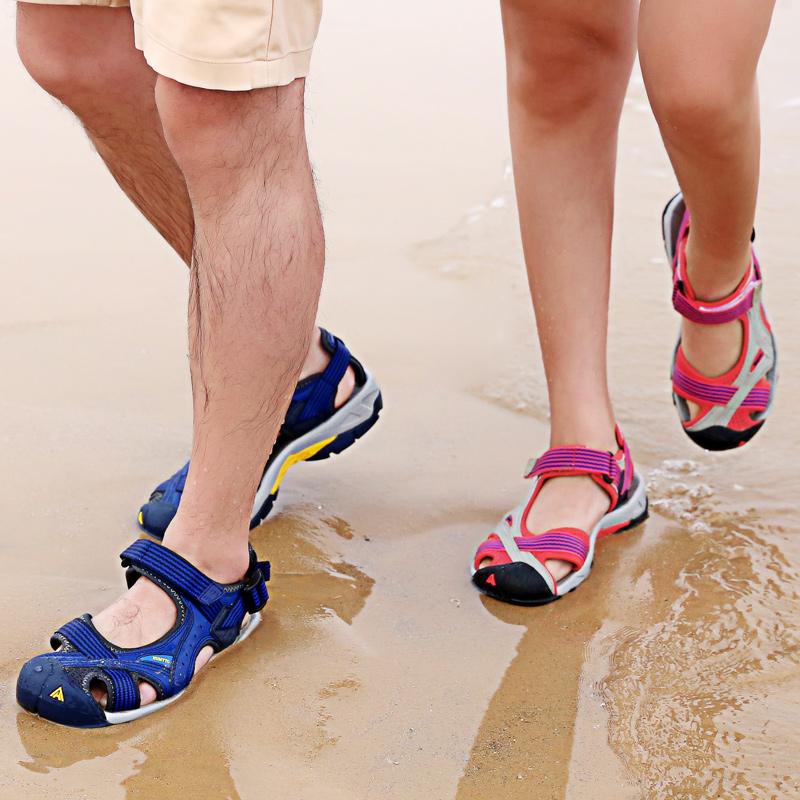 悍途户外沙滩鞋女夏海边度假男士涉水溯溪鞋徒步登山包头运动凉鞋