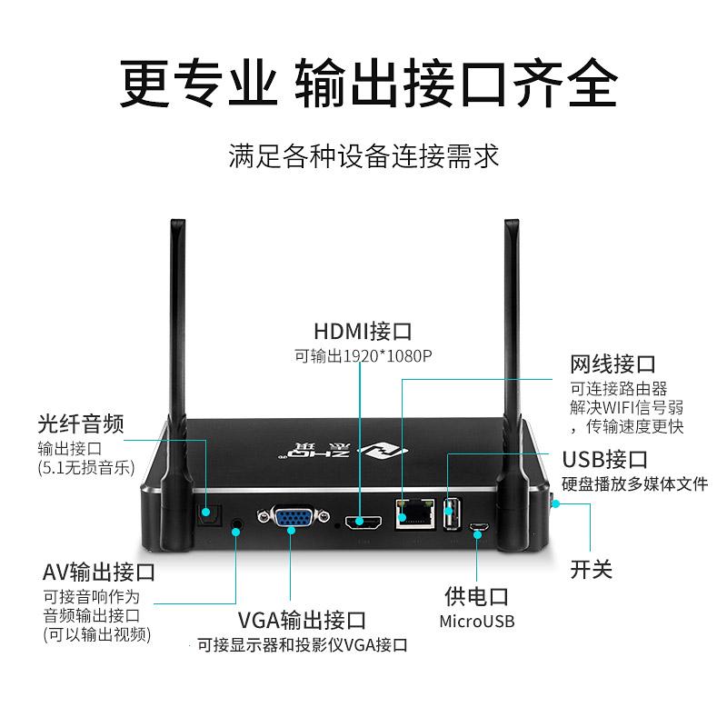志琪无线HDMI+VGA高清同屏器手机笔记本电脑连接电视机投影仪华为投屏显示神器家用通用接收传输器
