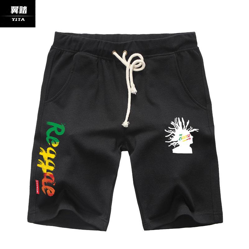 牙买加雷鬼旗音乐Reggae摇滚DJ短裤五分裤子男女运动休闲裤5分裤