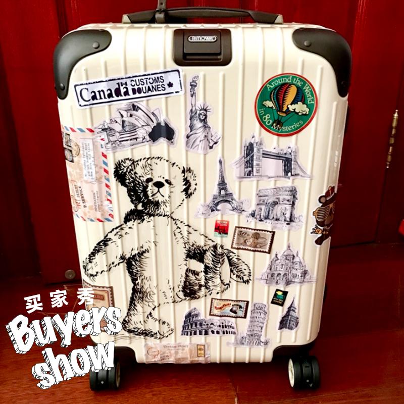 可爱卡通贴画 相机笔记本电脑贴纸 旅行箱行李箱贴纸个性单张345