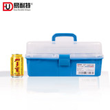 Elnit painting plastic art toolbox primary school manicure transparent three-layer collection portable portable tool box