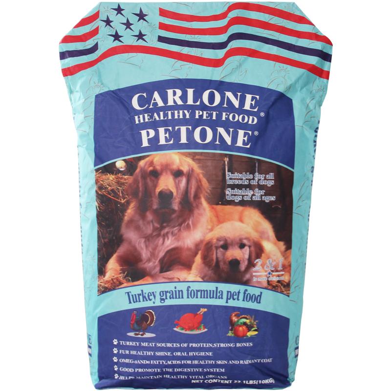 CARLONE卡罗狗粮火鸡燕麦10kg泰迪金毛哈士奇犬粮大小型犬全价粮优惠券