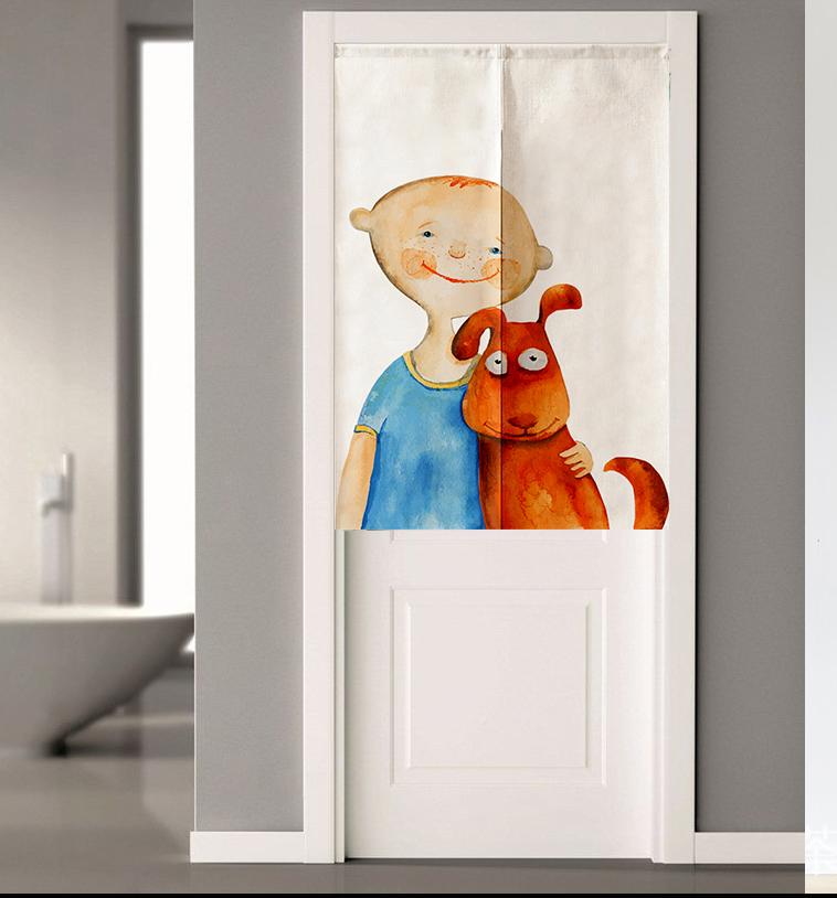 布艺棉麻卧室门帘半帘厨房风水隔断帘卫生间家用帘子厕所装饰布帘