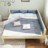 Solid wood bed simple with soft tatami bed master bedroom small apartment children's splicing bed 2.4 meters economical customization