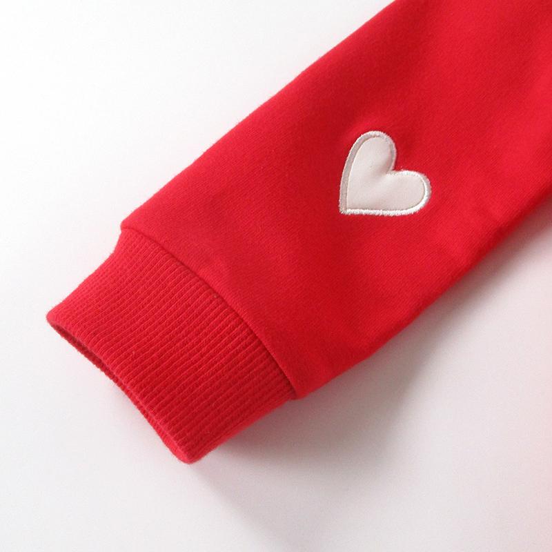 小女童宝宝秋装红色卫衣服春秋款婴儿幼儿童装洋气可爱上衣服一岁主图