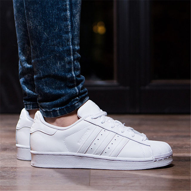 Brillar Instalar en pc Días laborables  Adidas Superstar clover shell head gold standard men and women board shoes  casual white shoes men's