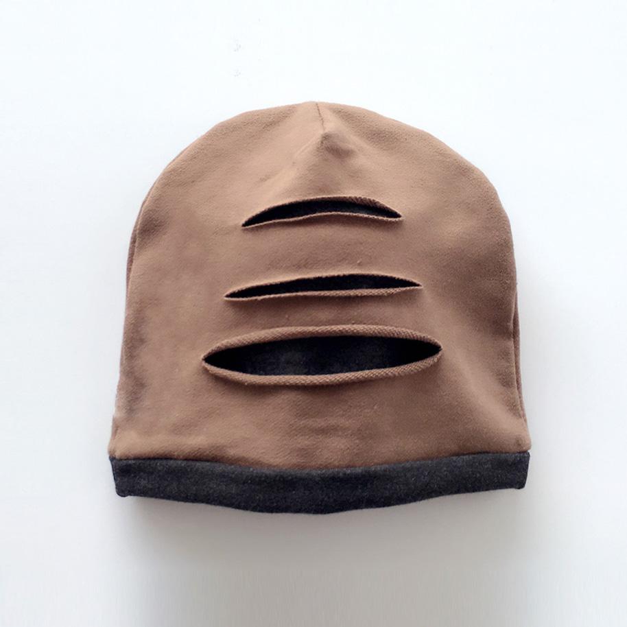 宝宝秋冬套头帽3-6-12个月 婴儿帽1-2-3-4岁时尚男童新生儿帽子潮